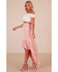 Showpo Pink Keep My Secret Skirt