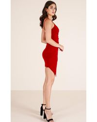 Showpo - Red Always Be Mine Dress In Wine - Lyst