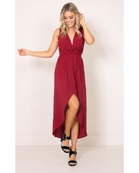 Showpo | Red Morning To Night Dress In Wine | Lyst