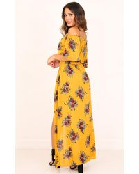 Showpo | Yellow Endless Dreams Two Piece Set In Mustard Floral | Lyst