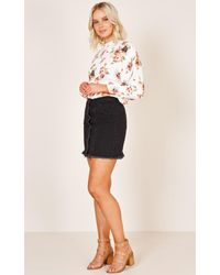 Showpo - In My Heart Top In White Floral - Lyst