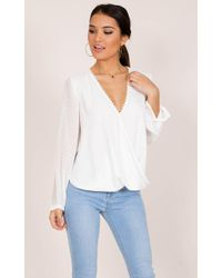 Showpo - Snap Up Top In White - Lyst