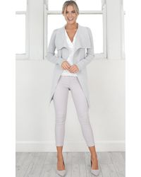 Showpo - Gray Making Waves Cardigan In Grey - Lyst