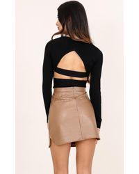 Showpo | Style Down Top In Black | Lyst