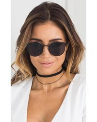 Showpo - Multicolor Straight Out Choker In Black And Gold - Lyst