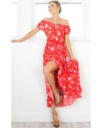 Showpo - Salsa Salsa Maxi Dress In Red Floral - Lyst