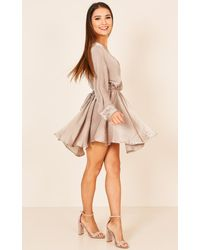 Showpo - Natural Dont Bring Me Down Playsuit In Beige - Lyst