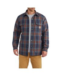 Lyst - Carhartt Hubbard Sherpa-lined Shirt Jacket (for Big ...