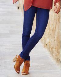 Simply Be - Blue Joanna Hope Zipper Detail Jeans - Lyst