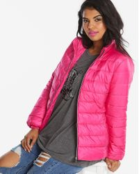 Simply Be - Pink Bright Padded Jacket - Lyst