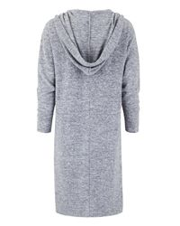 Simply Be - Gray Longline Hooded Cardigan - Lyst
