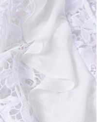 6abd97bd6aae5 Lyst - Simply Be White Ruffle Front Lace Blouse in White