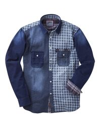 Simply Be - Blue Joe Browns Mix It Up Shirt for Men - Lyst