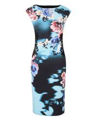 Simply Be - Blue Joanna Hope Print Scuba Dress - Lyst