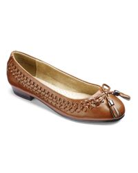 Simply Be - Brown Sole Diva Interweave Ballet Flats - Lyst