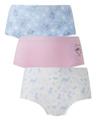 Simply Be - Multicolor Three Pack Bambi Christmas Character Shorts - Lyst