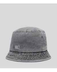 Obey - Black Respect Bucket Hat for Men - Lyst