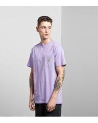 Carhartt WIP | Purple Pocket T-shirt for Men | Lyst