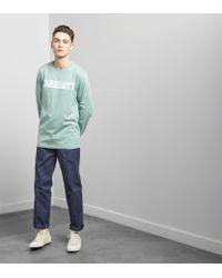 Carhartt WIP | Green Long Sleeved College T-shirt for Men | Lyst