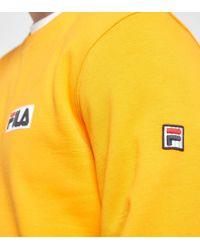 Fila - Orange Mast Crew Jumper - Size? Exclusive for Men - Lyst