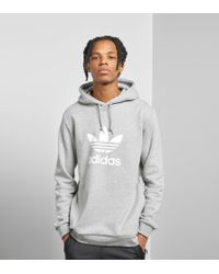 Adidas Originals - Gray Trefoil State Overhead Hoodie for Men - Lyst