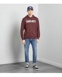 Carhartt WIP - Red College Overhead Hoody for Men - Lyst