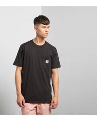 Carhartt WIP - Black Pocket T-shirt for Men - Lyst