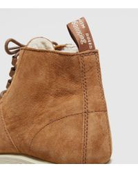 Dr. Martens - Brown Les Soft Buck Fur Lined Women's - Lyst
