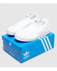 Adidas Originals - White Superstar Slip-on Women's - Lyst