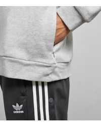 Adidas Originals - Gray Trefoil State Overhead Hoodie for Men - Lyst