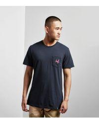 Huf - Blue Stage Pocket T-shirt for Men - Lyst