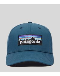 Patagonia - Blue P-6 Logo Curved Cap for Men - Lyst