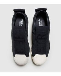 Adidas Originals - Black Superstar Bw35 Slip-on Women's - Lyst