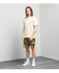 Adidas Originals - Natural Trefoil T-shirt for Men - Lyst