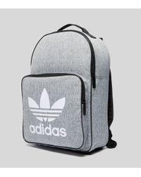 Lyst - adidas Originals Classic Trefoil Backpack in Gray for Men eadc571aec