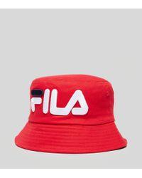 9c5964ea946 Fila Beefie Bucket Hat in Red for Men - Lyst