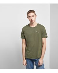 Champion - Green Crew T-shirt - Size? Exclusive for Men - Lyst