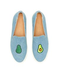 Soludos - Blue Embroidered Slip-on Sneaker - Lyst