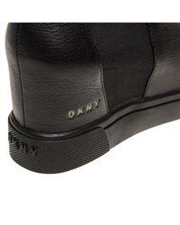 DKNY - Black Chelsea Sneaker Wedge Boots - Lyst