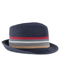 Barbour - Blue Tain Striped Trilby Hat for Men - Lyst