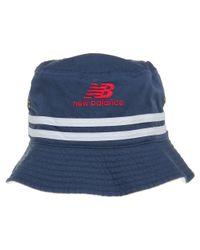 New Balance - Blue Reversible Bucket Hat for Men - Lyst