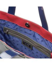 Armani Jeans | Gray Logo Patent Handbag | Lyst
