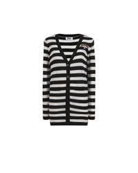 "Sonia by Sonia Rykiel | Black ""je Suis Parisienne"" Knit Cardigan V Neckline | Lyst"