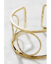 South Moon Under - Metallic Circle Cuff - Lyst