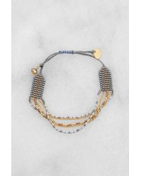 Mishky - Gray Bead And Chain Multistrand Bracelet - Lyst