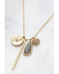 South Moon Under - Metallic Charm Pendant Necklace - Lyst