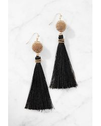 South Moon Under - Seed Bead Ball With Black Tassel - Lyst
