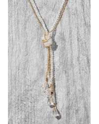 South Moon Under - Multicolor Crystal Ball Chain Knot Pendant - Lyst