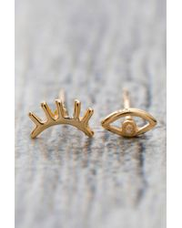 South Moon Under - Metallic Madison Stud Earrings - Lyst