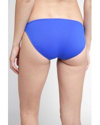 South Moon Under - Blue Resort Striped Solid Hipster Bikini Bottom - Lyst